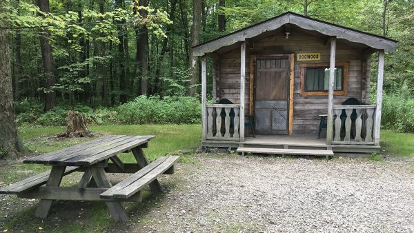 Oil Creek Family Campground Cabin Site