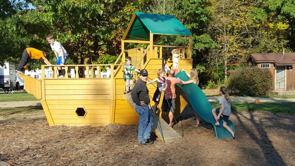 Oil Creek Family Campground Kids Playground