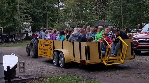 Oil Creek Family Campground Tractor Ride